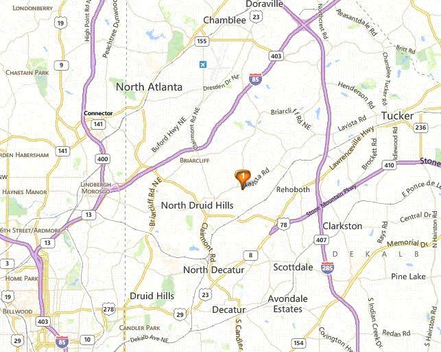 Map Of Decatur Georgia Oak Grove Heights Location