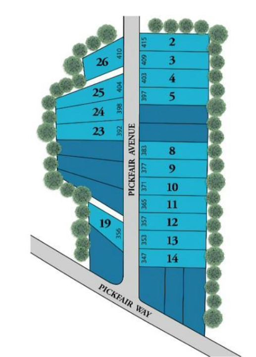 Site Plan For Lakewood Park New Homes